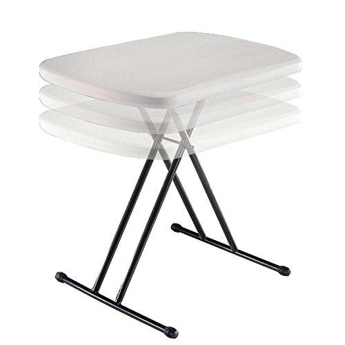 Lifetime 80251 Adjustable Folding Laptop Table Tv Tray 26