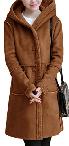 womens tan quilted coat - 3