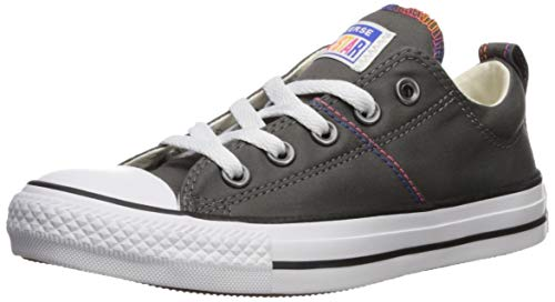 Converse Women's Chuck Taylor Madison All of The Stars Sneaker, Carbon Grey/Egret/Black, 8.5 M US
