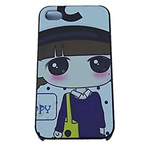 TY- Dot Chica Diseño Hard Cases para iPhone 4/4S