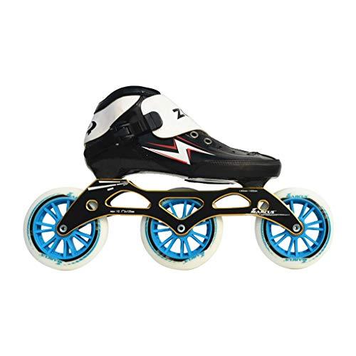 辞書地球懲戒ailj スピードスケートシューズ90MM-110MM調整可能なインラインスケート、ストレートスケートシューズ(3色) (色 : Red, サイズ さいず : EU 43/US 10/UK 9/JP 26.5cm)
