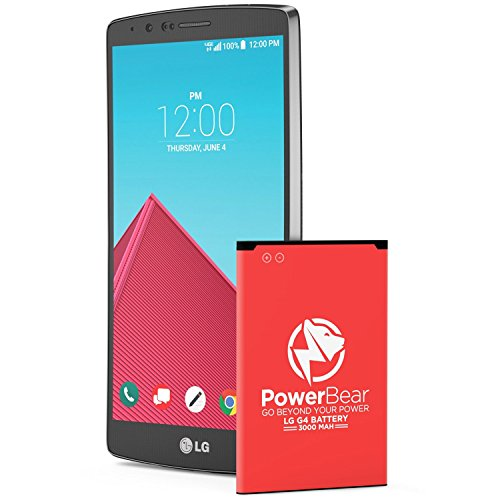 PowerBear LG G4 Battery | 3000mAh Li-Ion Battery for the G4 [US991, H812, H815, AT&T H810, T-Mobile H811, Sprint LS991, Verizon VS986] | LGG4 Spare Battery [24 Month Warranty]