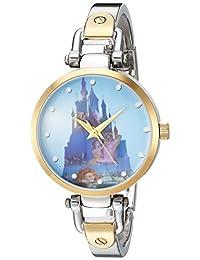 DISNEY Women's 'Princess' Quartz Metal and Alloy Casual Watch, Color:Two Tone (Model: WDS000071)