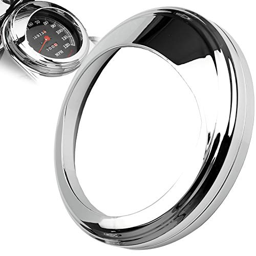 Speedometer Gauge Tank Mounted Cover Trim Ring Bezel Aluminum for Harley-Davidson (Chrome)