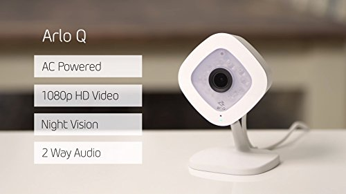 Arlo Q by NETGEAR – 1080p HD Security Camera | 2-way audio | Indoor only | No base station required (VMC3040), Works with Alexa