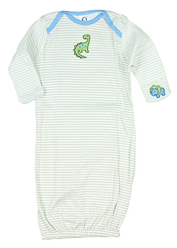 Gerber Baby Boy Lap Shoulder Gown, Dino, (0-6) months Diva Gown