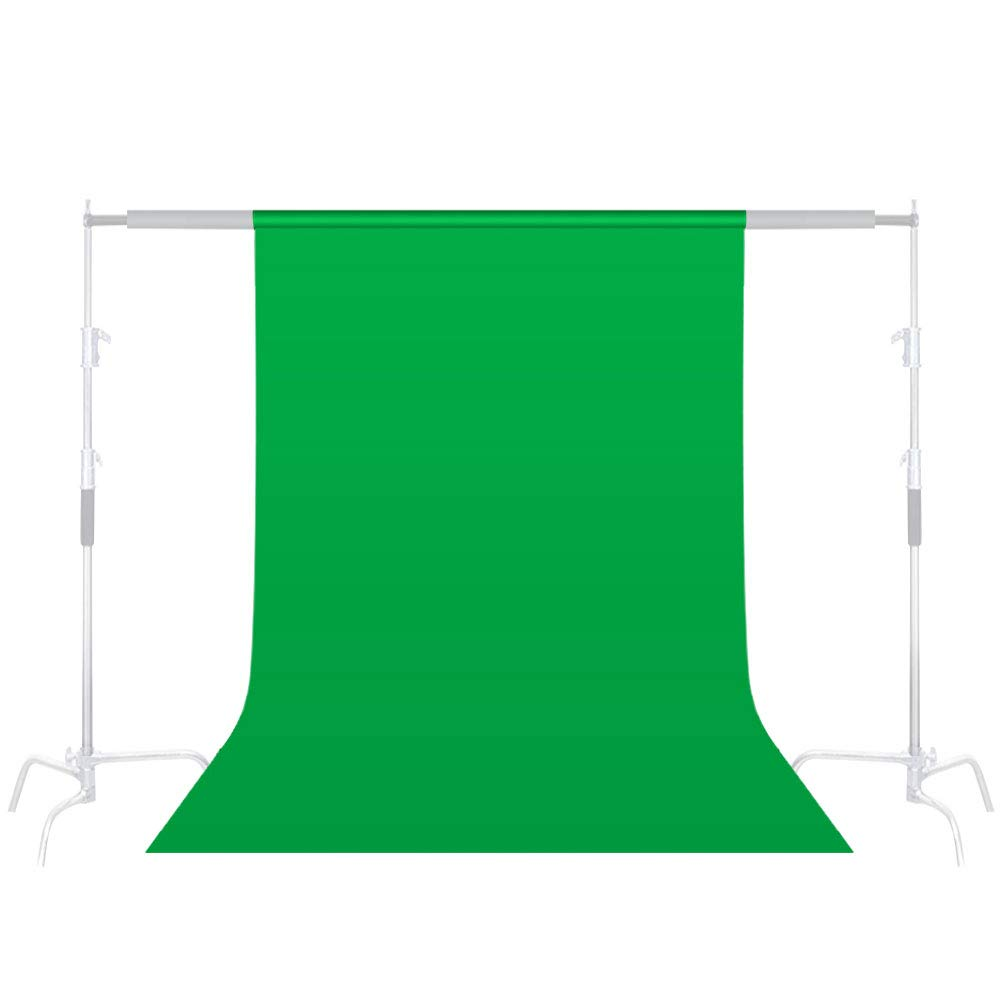 6.5 x 10ft Green Screen Background, 100% Cotton Backdrop for Photography, Video and Televison (only Green Background)