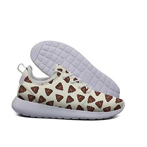 Unjdahsdd Rainbow Poop emoj Women's Cool Tennis Sneakers Lightweight Breathabl Boat Shoes