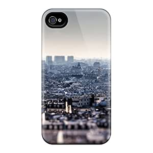 Fashion Tpu Case For Iphone 4/4s- Dense Population Defender Case Cover