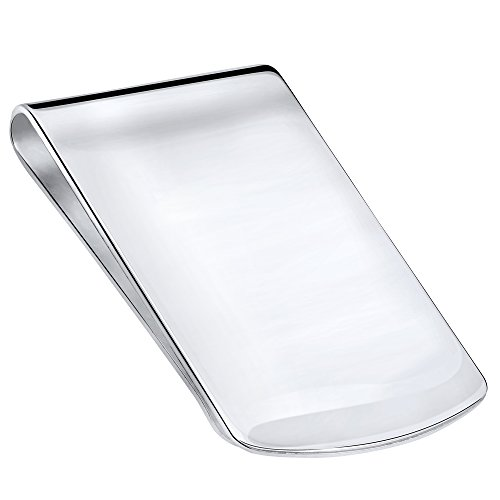 Sterling Manufacturers Sterling Silver .925 Money Clip, Solid Design, Engravable, Designed and Made In Italy