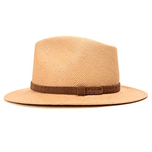 Del Toro Womens Natural Straw Panama Hat Natural Large/Extra Large by Del Toro