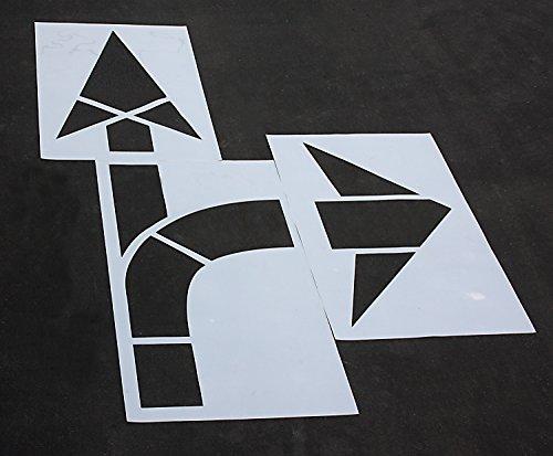 Road, HWY, DOT, FHWA - Pavement Stencils - 160 in MUTCD COMBO ARROW Stencil - 1/16 by STENCIL PROSTORE