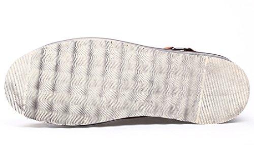 Tda Casual Para Hombre Con Cordones De Goma Suela Costura Botas Tobillo Caminando Marrón