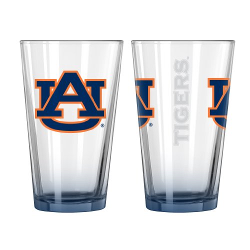 Auburn Tigers Elite Pint Glass, 16-ounce, 2-Pack ()
