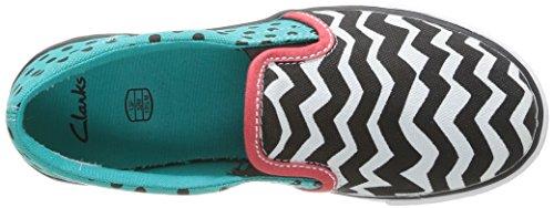 Clarks Brill Joy Jnr - Zapatillas de casa de material sintético niña Multicolor (Multicolor)