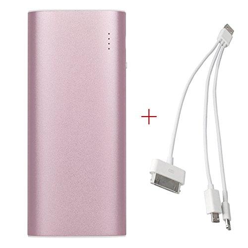 iProtect 13000mAh Power Bank Une batterie externe et chargeur pour votre Smartphone et autres appareils avec une sortie USB. Un câble USB est inclus dans la livraison, câble Apple iPhone en métallic r