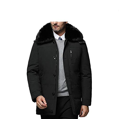 D'hiver Duvet Pour Blanc Canard Noir Unie Chaude En Couleur De Hommes Veste ppRStqg