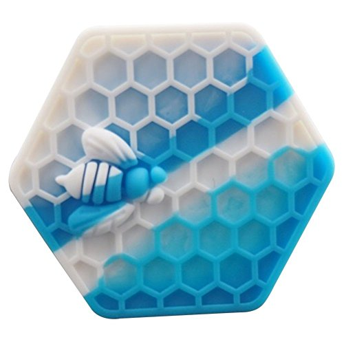 Gentcy 26ml 1PCS Blue Hexagon Silicone Container NonStick Honeybee...