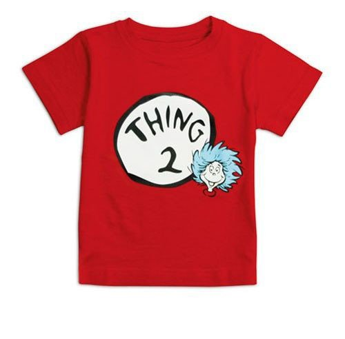 Dr. Seuss Thing 2 Red Infant TShirt, 3t