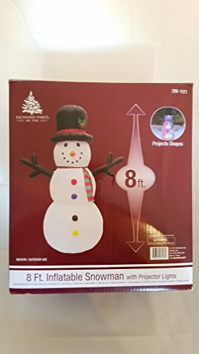 Enchanted Snowman - Enchanted Forest 8 foot inflatable snowman with projector lights
