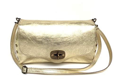 épaule en Pochette Superflybags Italy ou Small véritable Rodeo Gold cuir Made Modèle qEawRxwt