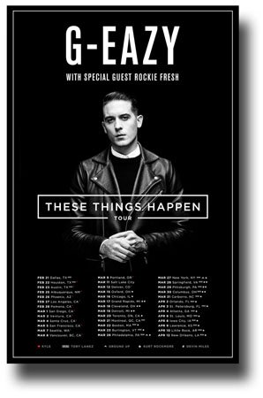 61f9b3aa216 Amazon.com  G-Eazy Poster - 11 x 17 Concert Promo for