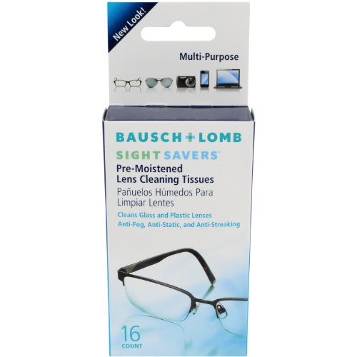Bausch & Lomb Sight Savers Pre-Moistened Lens Cleaning Tissues, 16-Count Tissues (Pack of - I's Sunglasses Bausch And Lomb