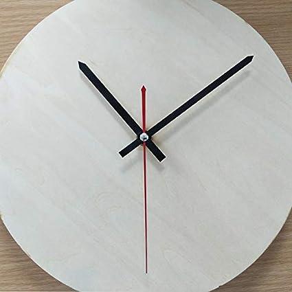 Horloge Decorative Europeenne Minimaliste en Bois Section de Fruits Orange REFURBISHHOUSE Horloge Murale Creative