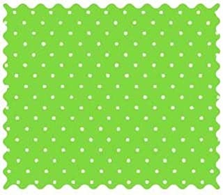 product image for SheetWorld 100% Cotton Percale Fabric by The Yard, Primary Pindots Green Woven, 36 x 44