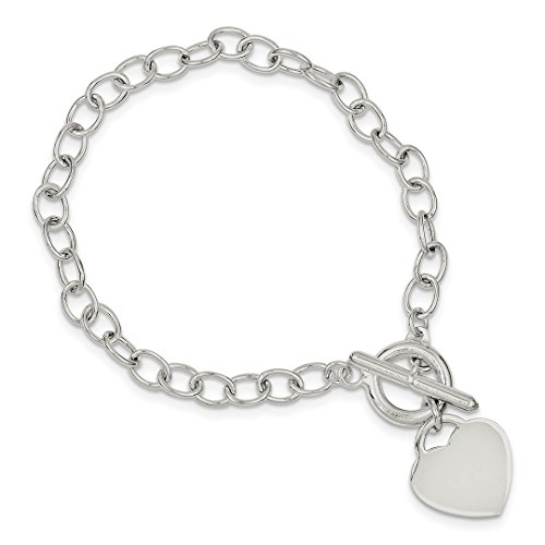 ICE CARATS 925 Sterling Silver Oval Link Heart Bracelet 7.50 Inch/love Fine Jewelry Ideal Gifts For Women Gift Set From - Oval Heart Link