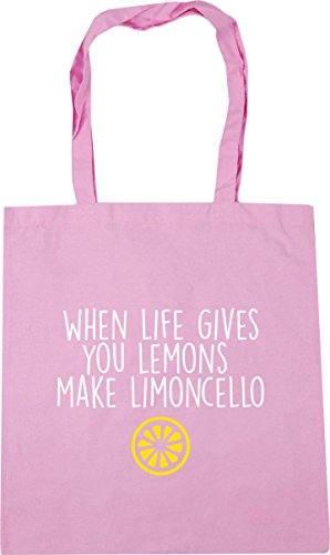 Bag Beach Lemons Life When Make Shopping You Pink Tote Classic 42cm Gym Limoncello Gives x38cm litres 10 HippoWarehouse wPvqIff