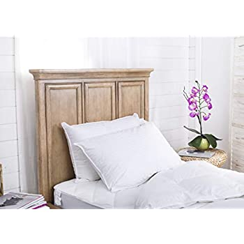 Image of Continental Bedding SP100-Q.2 Set of 2-Superior 100% Down 700 Fill Power Hungarian White Goose Down Pillow. Queen Size Home and Kitchen