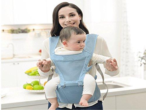 ZZQY Sommer-Breathable-Baby-Bügel, Größen-Schemel, Baby-Bügel, Multifunktions-Baby, Das Größen-Schemel, Hinteres Baby mit Sommer-Luft-Durchlässigkeit Hält, Blau