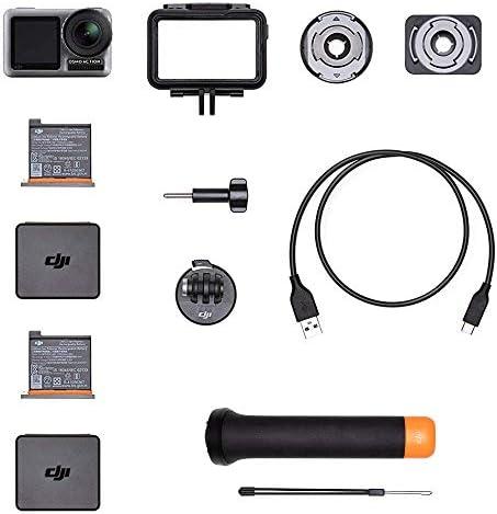 DJI Osmo Action Cam - Caméra d'action + DJI Osmo Action Part 1 Batterie - Batterie de Rechange pour Osmo Action Cam + DJI Osmo Action Part 13 Manche Flottant - Manche Flottant pour Osmo Action de DJI