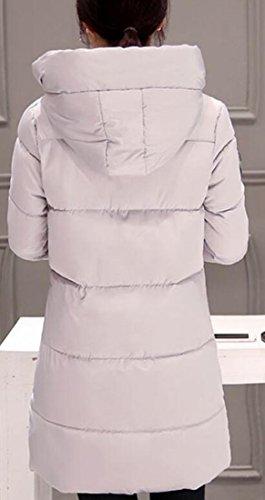 UK Womens Hooded Side Long Black today Warm Sleeve Down Puffer Jacket Zipper Winter dxwcfa