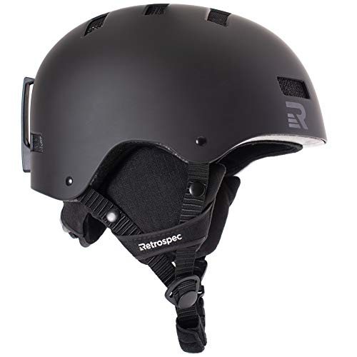 Retrospec Traverse H1 Ski & Snowboard Helmet, Convertible to Bike/Skate
