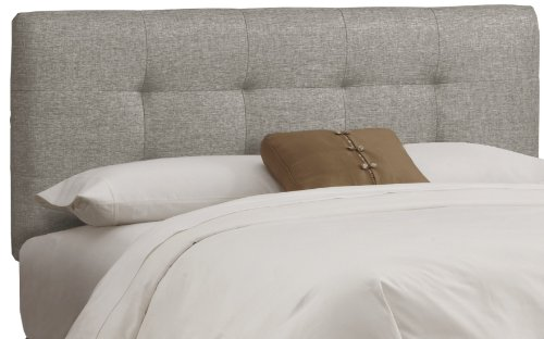 Skyline Furniture Tufted Headboard, King, Linen - Upholstered Headboard Skyline