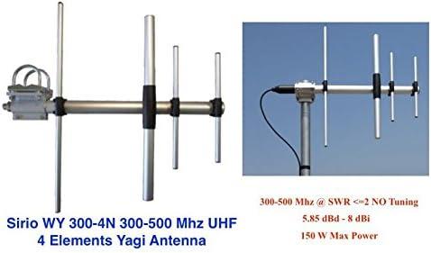 Sirio WY300-4N 300-500Mhz 4 Elementos UHF Yagi Antena: Amazon ...