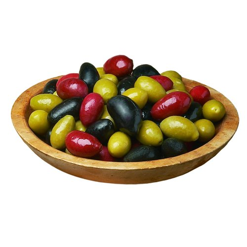 Olives, Cerignola, Mixed Black Green & Red - 5.5 Lb Tub