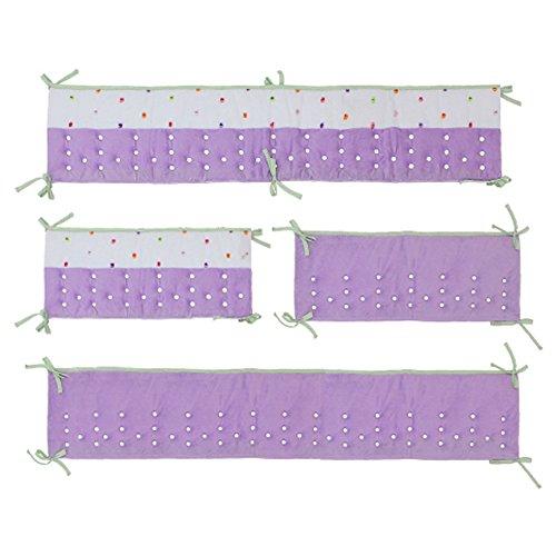 Nurture Imagination Butterfly Garden Lilac Air Flow Crib Safety Bumper Safe Soft ()