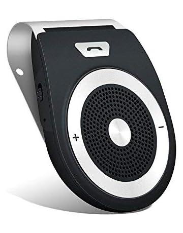 Aigoss Manos Libres Bluetooth 4.1 Coche Kit, reducción de eco y ruido de fondo para