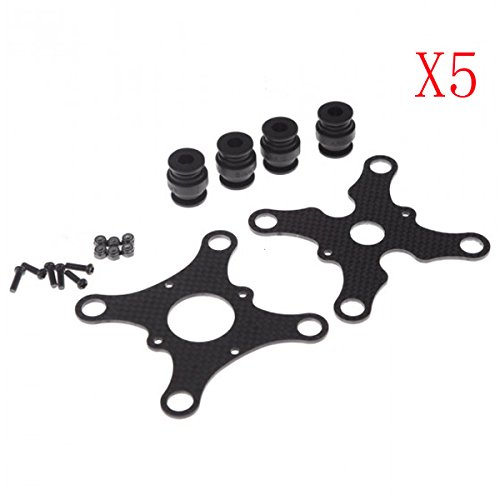Carbon Fiber Anti Vibration Plate W/ Rubber Balls For DJI Phantom Quadcopter Gimbal GOPRO Hero 2 3 FPV