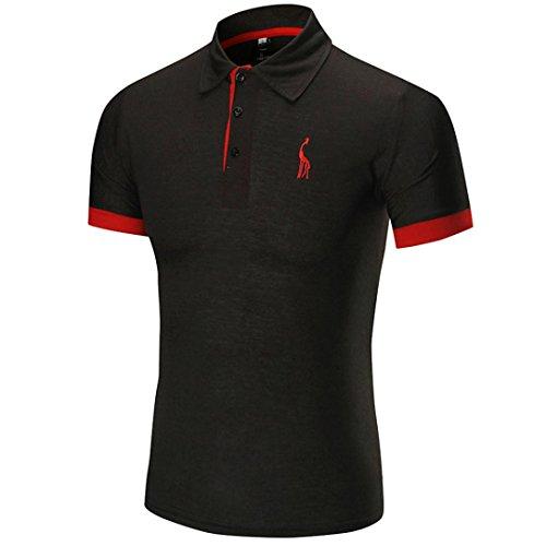Moda Calde Maglietta Abbigliamento Oyeden T Manica Per Estate La Di Uomini Casual Tees shirt Shirt Corta Gli Nero Uomo Slim Della Top qwwAE