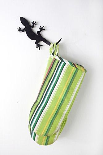 Artori Design - Gecko Rack - Black Metal Hook, Hanger, Rack Shaped Like a Israeli Gecko Reptile For Good Luck. Great Home, Kitchen and Office Gift. (Gecko Hook)