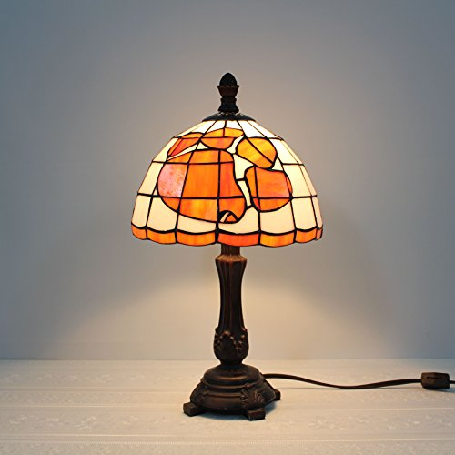 9-inch NCAA Clemson Tigers Stained Glass Table Lamp (Glass Tigers Stained Desk)
