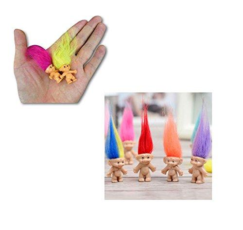 JDProvisions Mini Trolls PVC Novelty Mini Figurines Party Bag Fillers (12 or 24 Pieces) (Troll Doll Bingo)