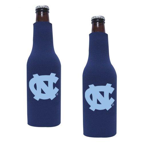 NCAA North Carolina Tar Heels Neoprene Bottle Suit with Zipper   University of North Carolina Beer Koozies - Set of 2