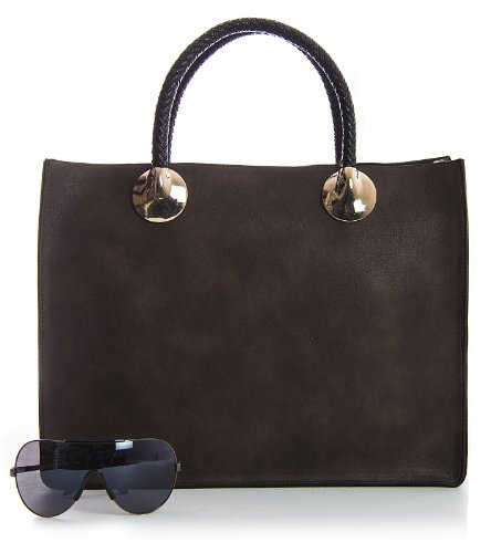 Handbag Handle Structured Womens Designer Bag Green Tote Top Dark Semi in Two Shop Big One dq0wXd