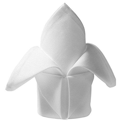 48 White Napkins Restaurant Dinner Cloth Linen Cotton Wedding Grade 20''x20'' Tableware & Servewear