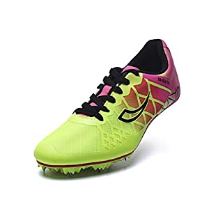 410w6wY8qmL. SS300  - Ifrich 2019 Men Spikes Athletics Racing Shoe Track and Field (US 4, Rose) ...